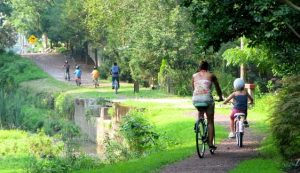 Cyclists Towpath by John Burke low res - Copy